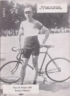 PHOTO CYCLISME -  TOUR DE FRANCE 1927 - FRANCIS PELISSIER - PUB  FABRICANT PRESTINE-VELOX - Cyclisme