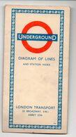 Londres/London.. Dépliant Plan  UNDERGROUND  ( Métro)  1958 (PPP23826) - Vecchi Documenti