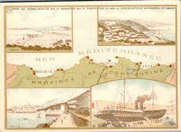 Vers 1890 Département Province De Constantine :Bougie...carte Géographique Belle Illustration (chocolaterie Aiguebelle) - Non Classificati