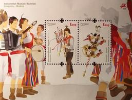 Madeira 2014 - Europa 2014  - MNH As Scan - Musical Instruments - FACE VALUE!!! - Souvenir Sheet Of 2 Stamps - Madeira