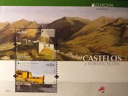 Madeira 2017 - Europa 2017  - MNH As Scan - Castles - FACE VALUE!!! - Souvenir Sheet Of 2 Stamps - Madeira