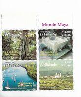 EL SALVADOR 2002  TOURISM LANDSCAPES SHIPS ATRACTIONS 4 VALUES MNH - El Salvador