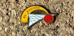 Pin's BASKET - AL Aubière (63) - Peint Cloisonné - Fabricant Inconnu - Baloncesto