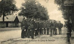 INSPECTION GÉNÉRALE À LA CASERNE DU CAMP DE BEVERLOO. CAMP DE BEVERLOO KAMP LEOPOLDSBURG BOURG LEOPOLD WWICOLLECTION - Leopoldsburg (Beverloo Camp)