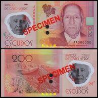 Cape Verde 200 Escudo, (2014), Polymer, SPECIMEN, UNC - Cap Verde