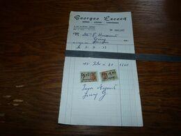 Document Brasserie Brouwerij Marchand De Bières Gueuze Limonades Georges Lecocq - 1900 – 1949