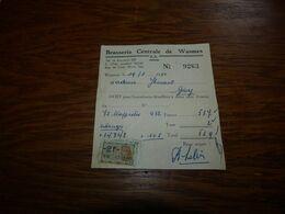 Document Brasserie Brouwerij Brasserie Centrale De Wasmes - 1900 – 1949