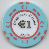 Jeton De Dragonara Casino Malta / Malte : €1 - Casino