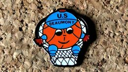 Pin's BASKET - US Beaumont (63) - Peint Cloisonné  - Fabricant Inconnu - Baloncesto