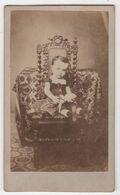 CDV Photo Originale XIXème Enfant Lamerque Poupée Par Malbret Carcassonne Cdv2989 - Photographs