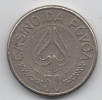 Portugal Casino Da Povoa 50 Escudos : Jeton De Machine à Sous - Casino