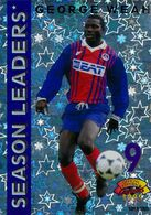 Panini, Official Football Cards (1995), Season Leaders (SL 12) : Georges Weah (PSG) - Non Classificati