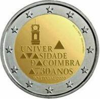Portugal 2020 2 Euro Comm. Universiteit Van Coimbra    350.000 Ex !!    UNC Uit De Rol  UNC Du Rouleaux  !! - Portugal