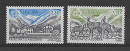 ANDORRE - EUROPA 1986 YVERT N° 348/349 ** MNH - COTE = 9 EUR. - NATURE / ANIMAUX - Ungebraucht