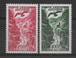 ANDORRE - 1955 -POSTE AERIENNE YVERT N° 2+3 ** MNH - COTE = 55 EUR. - - Nuevos