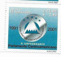 EL SALVADOR 2002 CENTRAL AMERICAN PARLIAMENT EMBLEM ANNIVERSARY 1 Value MI 2289 SC 1567 - El Salvador