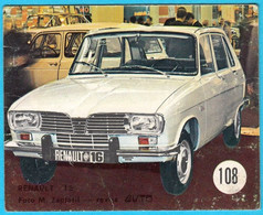 RENAULT 16  ... Yugoslav Vintage Card * Used - Removed From The Album * France Car Automobile Auto Automobil Oldtimer - Adesivi