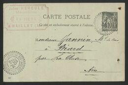 AIN C. à D. Facteur Boîtier LA CLUSE S.on DE MONTREAL ET DE NANTUA   COTE 160 € (voir Description) - 1877-1920: Semi-moderne Periode