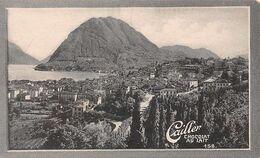 Lugano Monte Salvatore - 5462 Hab. San Lorenzo - Cailler 158 - Chocolat Au Lait - Texte Au Dos  (~10 X 6 Cm) - Nestlé
