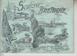 Souvenir De BRETAGNE - Lannion Perros Guirec Trebeurden Trégastel ( 12 Vues ) - Folletos Turísticos