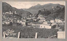 Bellinzone 5047 Hab. Bellinzona - Fortifications 1853 - Cailler 155 - Chocolat Au Lait - Texte Au Dos  (~10 X 6 Cm) - Nestlé