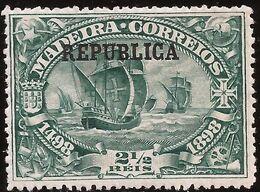 Portugal - Fx. 4098 - Yv. 196 - Vasco Da Gama (Madeira) Sobrecargado REPUBLICA - 1911 - * - Unused Stamps