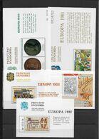 ANDORRE - 1980/1992 - 5 BLOCS SPECIAUX FRAANCHISE POSTALE ** MNH - Andorra Española