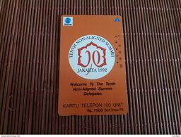 Phonecard Indonesia  100 Units Jakarta 1992 Used Rare - Indonesien