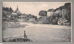 Laufenburg 1136 Hab Aargau - Pêche Au Saumon - Pisciculture- Cailler 151 - Chocolat Au Lait - Texte Au Dos  (~10 X 6 Cm) - Nestlé
