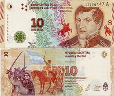 ARGENTINA    10 Pesos    P-New    ND (2016)    UNC  [sign. Vanoli - Domínguez] - Argentina