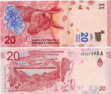 ARGENTINA    20 Pesos    P-361    ND (2017)    UNC  [sign. Sturzenegger - Michetti] - Argentina