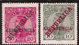 Portugal - Fx. 4101 - Yv. 204/5 - Provisorios - Sobrecargado REPUBLICA Y ASSISTENCIA- 1911 - * - Unused Stamps