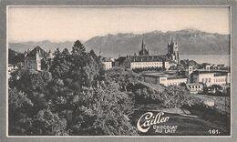 Lausanne - Exerce Sur L'ami Du Pittoresque Et De L'imprévu - Cailler 161 - Chocolat Au Lait - Texte Au Dos  (~10 X 6 Cm) - Nestlé