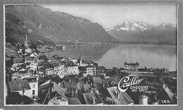 Montreux 15844 Hab. 74 Hôtel Pour 5000 Lits. Départ M.O.B. - Cailler 163 - Chocolat Au Lait - Texte Au Dos  (~10 X 6 Cm) - Nestlé