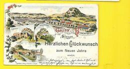 Gruss Vom HOHENTWIEL Und SINGEN Litho. () Allemagne - Singen A. Hohentwiel