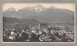 Bex - 3190 Hab. Salines - Vins - Noyers - Châtaigneraies - Cailler 165 - Chocolat Au Lait - Texte Au Dos  (~10 X 6 Cm) - Nestlé