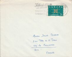 LUXEMBOURG OBLITERATION TIMBRES CARITAS 1964 - Marcophilie - EMA (Empreintes Machines)