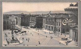 Genève - Place Neuve - Musée Rath 1825 - Dufour Sonderbund - Cailler 178 - Chocolat Au Lait - Texte Au Dos  (~10 X 6 Cm) - Nestlé