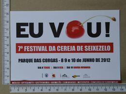 PORTUGAL - 7º FESTIVAL DA CEREJA DE SEIXEZELO -  VILA NOVA DE GAIA -   2 SCANS     - (Nº38028) - Porto