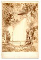 Italy Trento - Cascata Del Ponale - Riva Del Garda ~1896 Augusto Baroni Cabinet Photo - Ancianas (antes De 1900)