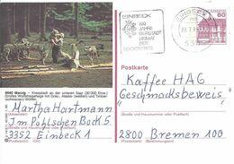 Allemagne Carte Postale Entier Postal Oblitéré, Thème Bière, Beer, Bier. Flamme Einbeck Bockbieres - Birre