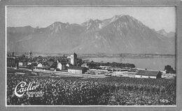 Villeneuve - Vins - 1741 Hab. Station Jura-Simplon Cailler 164 - Chocolat Au Lait - Texte Au Dos  (~10 X 6 Cm) - Nestlé