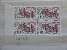 France.bloc De 4 Numéroté Du N° 3108 Basilique Saint Maurice N**. - Unused Stamps