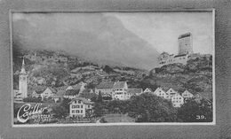 Sargans St. Gallen - Château  Rhétie Montfort Toggenburg  Cailler 39 - Chocolat Au Lait - Texte Au Dos  (~10 X 6 Cm) - Nestlé