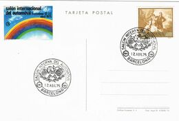 37695. Tarjeta BARCELONA 1975. SALON Del AUTOMOVIL, Viñeta, Label - 1931-Aujourd'hui: II. République - ....Juan Carlos I