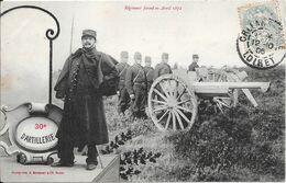BERGERET - 30e D'Artillerie - Soldats, Canon - Bergeret