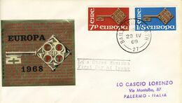 1968 - IRLANDA - EUROPA - BUSTA FDC.+2 - FDC