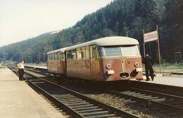 Clervaux. Autorail Uerdingen. Cliché Jacques Bazin. 25-04-1959 - Trains