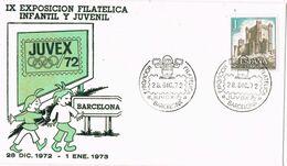 37699. Carta BARCELONA 1972. Exposicion JUVEX 72, Filatelica Infantil Y Juvenil - 1931-Aujourd'hui: II. République - ....Juan Carlos I
