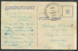 """HAWAII - CP EN FRANCHIDSE """" ARMY-AIR FORCE POSTAL SERVICE LE 30/6/1954 DE L'A.P.O. 438 """" POUR LA FRANCE - TB - Oceania (Other)"""